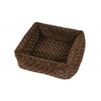 Pelíšek pro psy a kočky Cube Fuzzy 53 cm hnědá