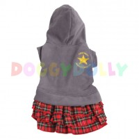 Mikina Doggydolly šedý fleece se sukní XXS