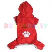 Pláštěnka Doggydolly červená 4 nohy