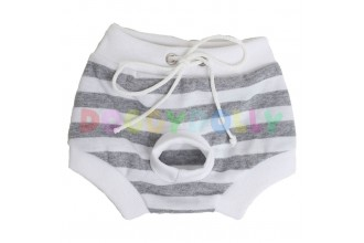 Kalhotky Doggydolly bílý/šedý proužek XXS