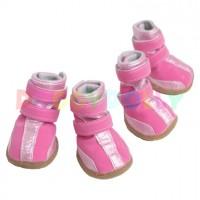 Boty pro psa Doggydolly růžové XL