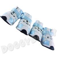 Boty pro psy Doggydolly modrý proužek XS
