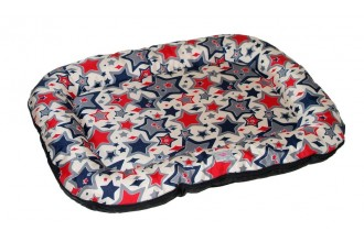 Pelech pro psy Excellent 59 x 38 cm D38, hvězdičky červená modrá DOPRODEJ SLEVA 30%