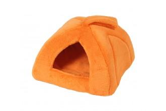 Domeček iglú 40 x 40 cm, pelíšek pro psy a kočky A30, oranžová
