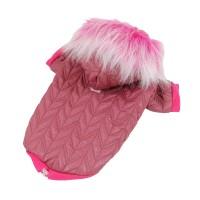Luxusní prošívaná bunda pro psy - růžová
