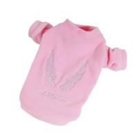Mikina fleece Angel, obleček pro psa - růžová (doprodej skladových zásob)