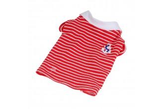 Tričko námořnické s límečkem - červená (doprodej skladových zásob)