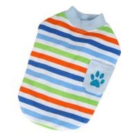 Tričko proužek s kapsou - modrá (doprodej skladových zásob)