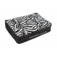 Ortopedická matrace De Luxe 120 x 85 cm, pelech pro psy zebra