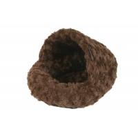 Pelíšek hlodavci Papuče Fuzzy hnědá