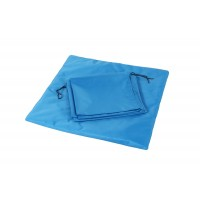 Záclonky do výstavních klecí 70 x 140 cm modrá